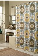 m.style Ottoman Blossom Gold Shower Curtain -