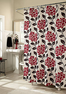 m.style Flora Lipstick Shower Curtain - Online Only