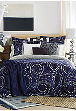 California Dot Blue King Duvet Set 108-in. x 96-in.