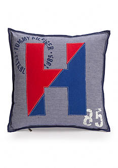 Tommy Hilfiger Arrowhead Applique Logo Decorative Pillow 18-in. x18-in.