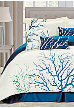 Coral Blue 7-piece Queen Comforter Set 92-in. x 96-in.