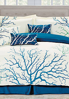 Panama Jack® Coral Blue 7-Piece Comforter Set - Online Only