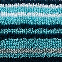 Multi Decorative Bath Towels: Stripe Aqua Christy Supreme Stripe Washcloth 13-in.x 13-in.
