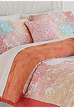 Sherbet Lace Embroidered Decorative Pillow 16-in. x 16-in.