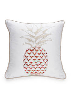 New Directions Wyatt Embroidered Pineapple Decorative Pillow