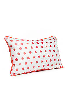 New Directions Brianna Embroidered Scribble Dot Decorative Pillow