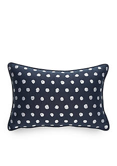 New Directions Taylor Embroidered Scribble Dot Decorative Pillow