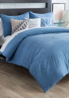 New Directions Vince Dusty Blue Full/Queen Bedding Collection