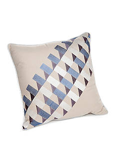 New Directions Vince Tile Geo Embroidered Decorative Pillow