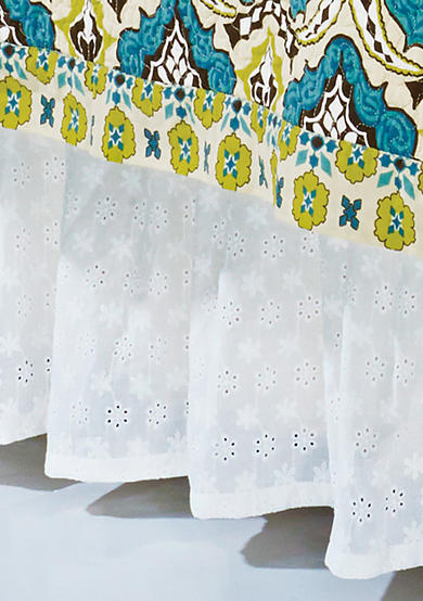 HiEnd Accents Eyelet Full Bed Skirt