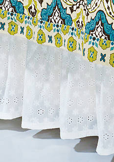 HiEnd Accents Eyelet King Bed Skirt