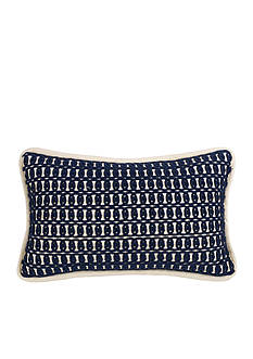 HiEnd Accents Monterrey Rope Embroidery Pillow