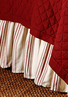 HiEnd Accents Striped Bedskirt