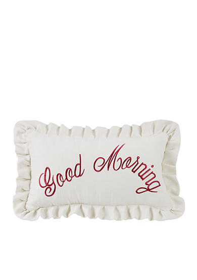 HiEnd Accents Good Morning Embroidery Pillow