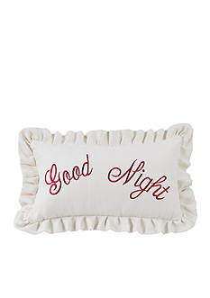HiEnd Accents Good Night Embroidery Pillow