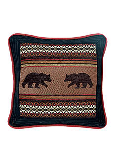 HiEnd Accents Bayfield Bear Pillow