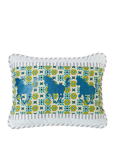 HiEnd Accents Horse Embroidery Pillow