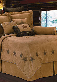 HiEnd Accents LUXURY STAR QUEEN COMFORTER SET 7PC DS