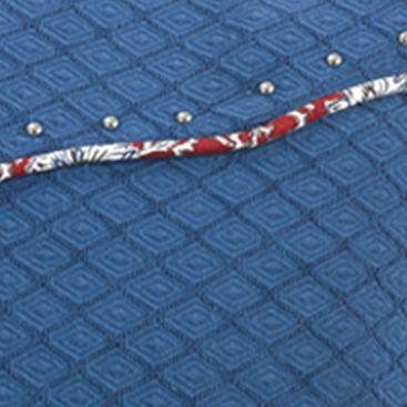 Red Bedding: Blue HiEnd Accents BANDERA BLUE ENV EURO
