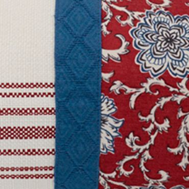 Red Bedding: Red HiEnd Accents BANDERA BLUE ENV EURO
