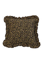 San Angelo Leopard Ruffled Pillow 18-in. x 18-in.