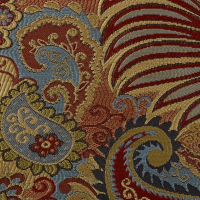 Bed & Bath: Formal Sale: Multi Color HiEnd Accents SAN ANGELO QUEEN CSET PAISLEY JACQUARD