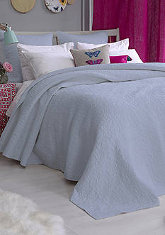 bluebellgray FERN SOLID COVERLET TWIN ARTIC