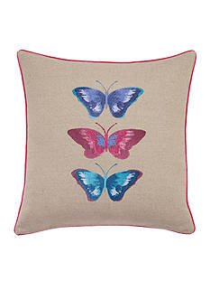 bluebellgray® Embroidered Butterflies 16-in. Decorative Pillow