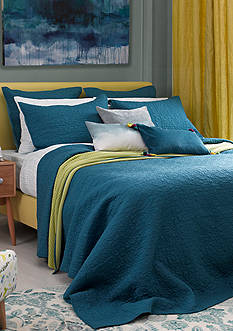 bluebellgray® FERN SOLID COVERLET TWIN BLUE