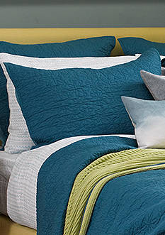 bluebellgray FERN SOLID COVERLET EURO SHAM BLUE