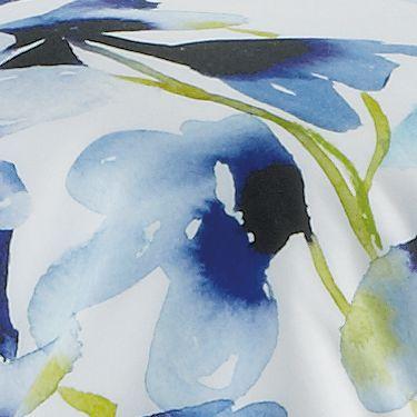 Modern Bedding: Blue bluebellgray SKYE 18' VLVT LF GRN