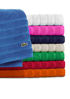 Lacoste Croc Solid Bath Towel Collection