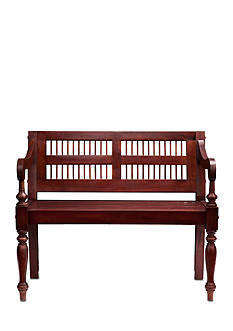 Southern Enterprises Turay Mahogany Bench