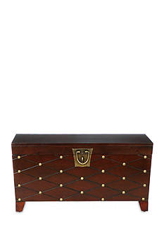 Southern Enterprises Kirksey Nailhead Cocktail Table Trunk