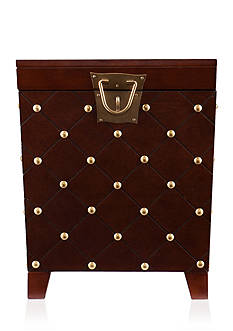 Southern Enterprises Kirksey Nailhead End Table Trunk