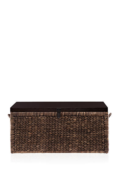 Southern Enterprises Water Hyacinth Storage Trunk - Blackwashed with Espresso