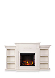Southern Enterprises Henrietta Electric Fireplace with Bookcases
