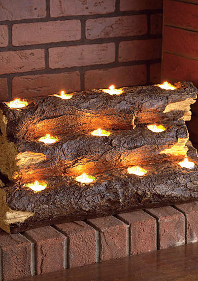 Southern Enterprises Tabor Tealight Fireplace Log