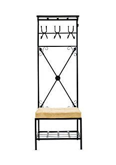 Southern Enterprises Acoma Entryway Storage Rack/Bench
