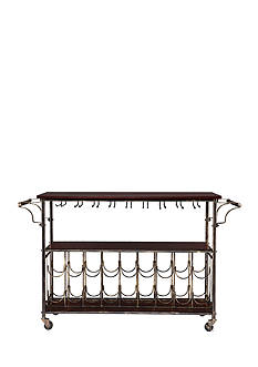 Southern Enterprises Traveliere Wine/Bar Cart