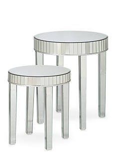 Southern Enterprises Mirrored Nesting Tables 2-Piece Set