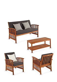 Southern Enterprises Catania 4-Piece Outdoor Deep Seating Set