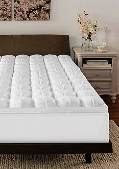 Soft-Tex SensorPEDIC???? 4-in. Gel-Infused Memory Foam and Down Alternative Topper - Twin