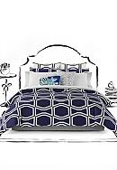 kate spade new york® Bow Tile Navy Comforter