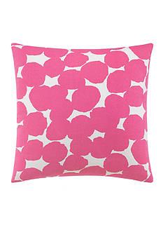 kate spade new york Random Dot Shocking Pink Decorative Pillow