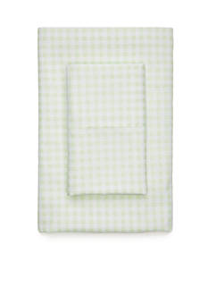 Home Accents Super Soft Microfiber Gingham Queen Sheet Set