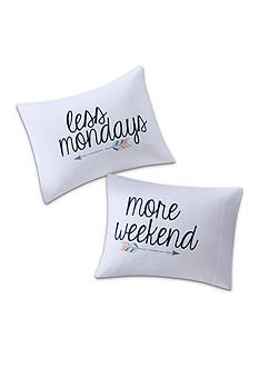 Back to Class More Weekends Less Mondays Pillowcase Pair