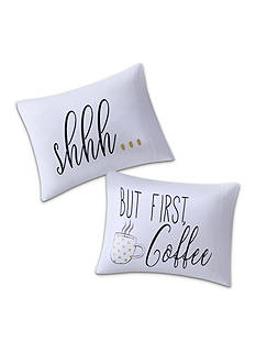 Back to Class Shhh... But First Coffee Pillowcase Pair