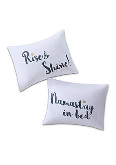 Back to Class Namastay In Bed and Rise And Shine Pillowcase Pair