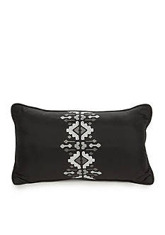 Best in Class Black Embroidered Aztec Decorative Pillow